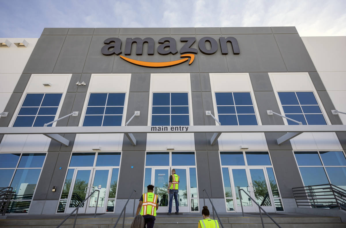 AmazonÕs warehouse in North Las Vegas is seen on Thursday, July 30, 2020. (Elizabeth Bruml ...