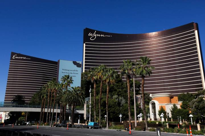 Encore and Wynn are seen on the Strip on Tuesday, May 26, 2020, in Las Vegas. (Chris Day/Las Ve ...