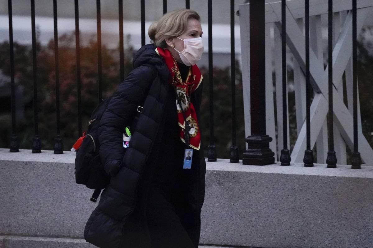 Dr. Deborah Birx, White House coronavirus response coordinator, leaves the White House Tuesday, ...