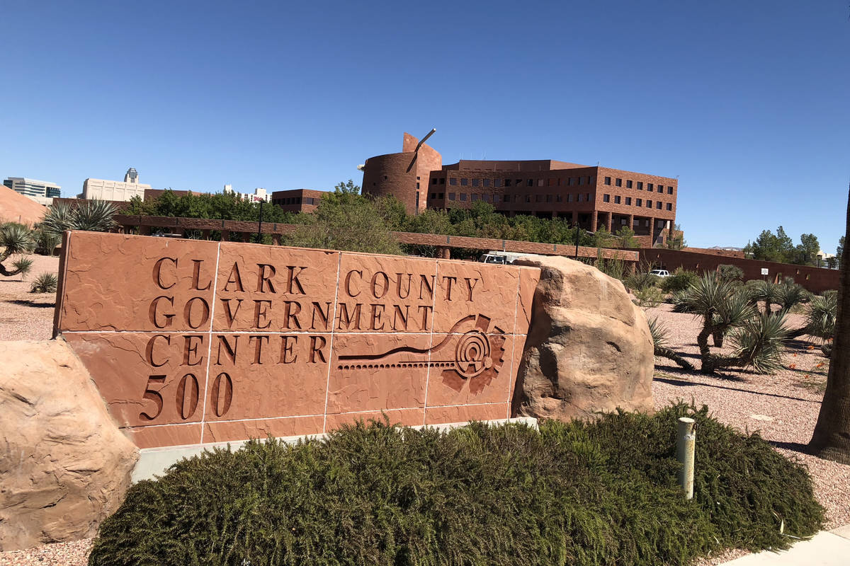 The Clark County Government Center in Las Vegas. (Las Vegas Review-Journal file photo)