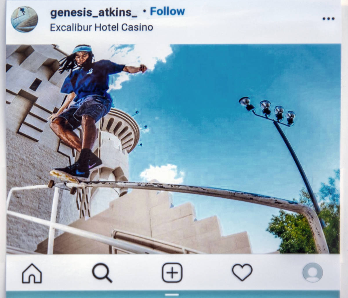 Instagram page image of Genesis Atkins, a motorcyclist who was killed Sunday evening when struc ...