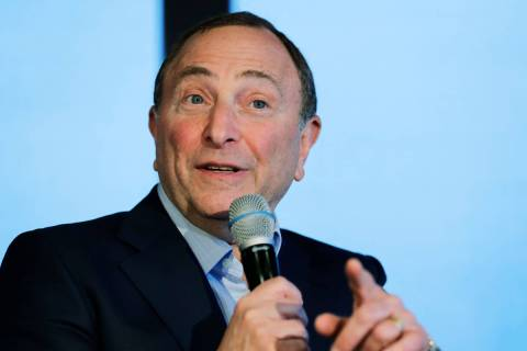 NHL Commissioner Gary Bettman speaks Wednesday, Jan. 9, 2019, during a news conference in Seatt ...