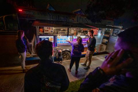 YourPanadas empanada truck makes a Friday night stop at Aviata Apartments on Nov. 20, 2020. (El ...
