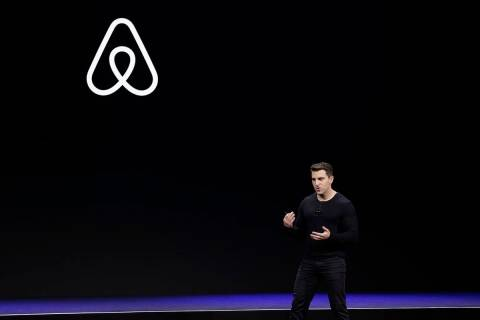 Airbnb co-founder and CEO Brian Chesky. (AP Photo/Eric Risberg, File)