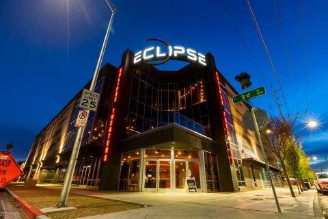 Exterior shots of the Eclipse building at dusk is seen in this April 3, 2019, file photo. (L.E. ...
