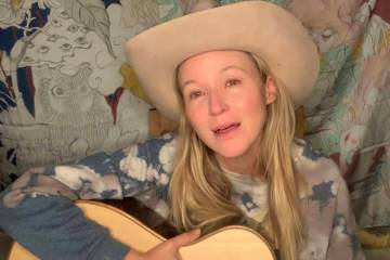A screen grab of superstar Jewel is shown paying tribute to the late Tony Hsieh with a cover of ...
