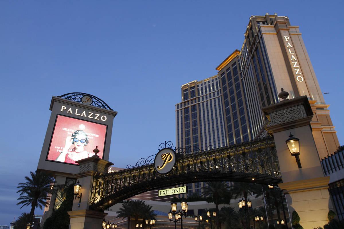The Palazzo is seen on the Las Vegas, Strip, Saturday, Nov. 21, 2020. (Chitose Suzuki / Las Ve ...
