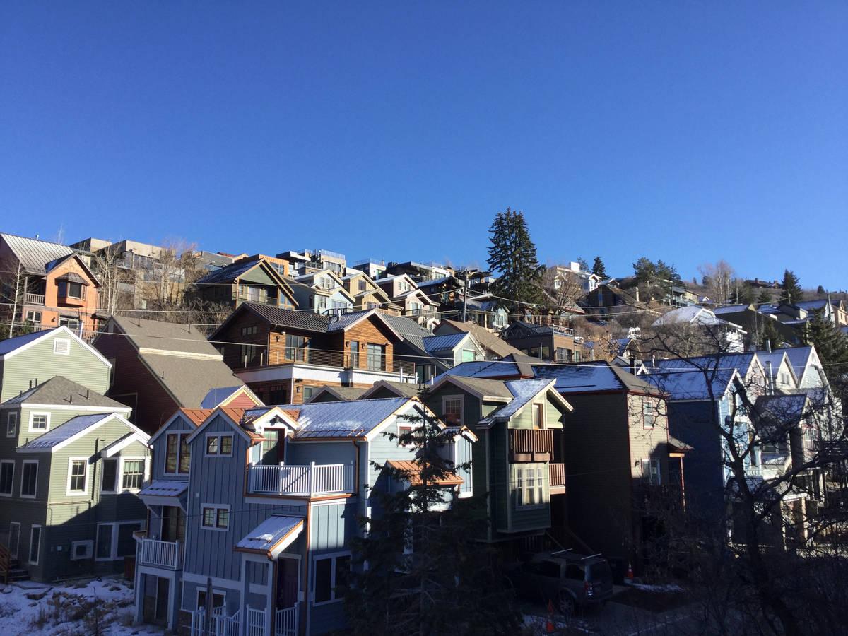 Houses in Park City, Utah, Thursday, Dec. 3, 2020. (Eli Segall/Las Vegas Review-Journal)