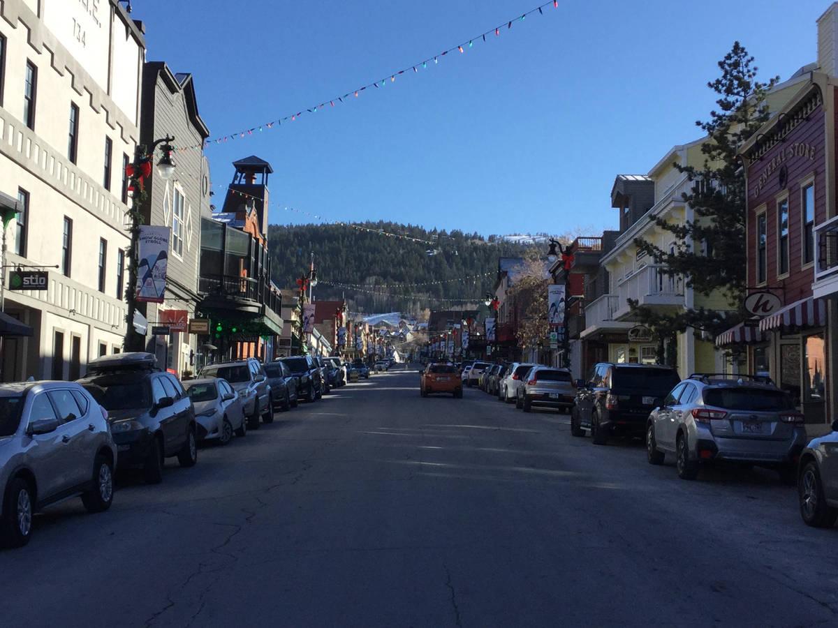 Main Street in Park City, Utah, Thursday, Dec. 3, 2020. (Eli Segall/Las Vegas Review-Journal)