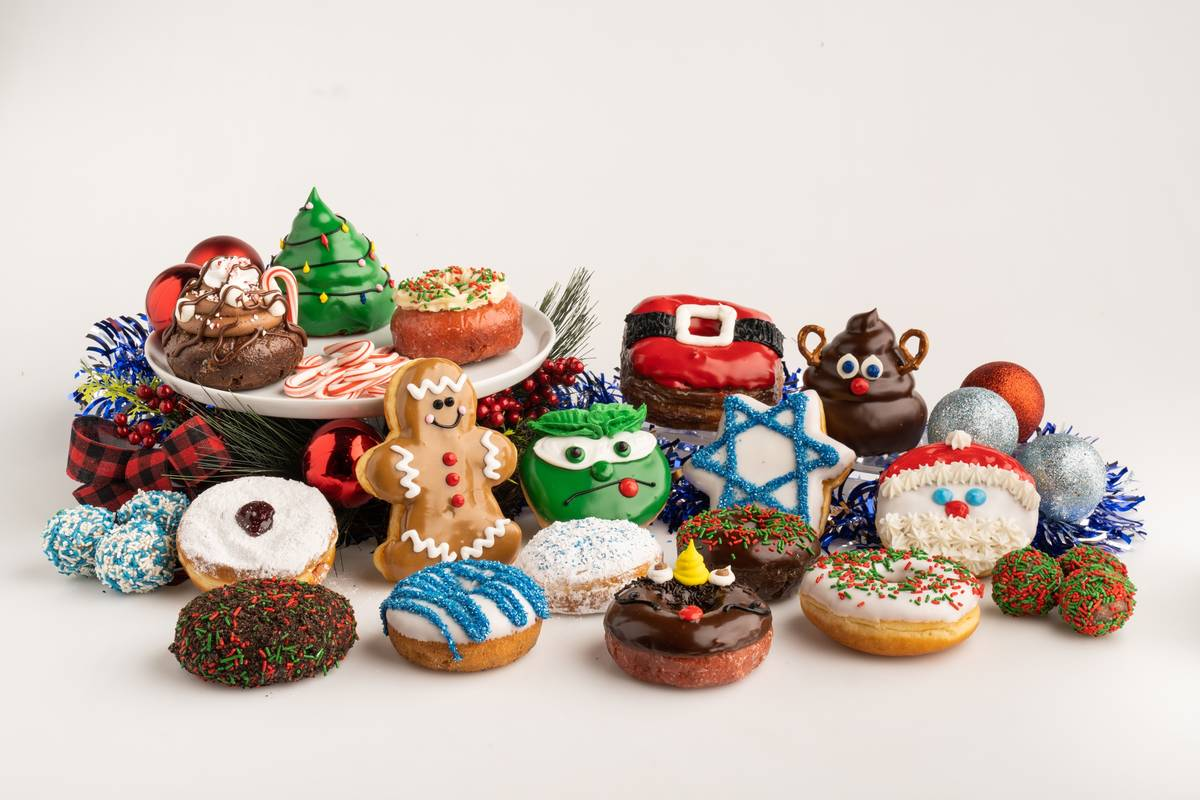 Holiday doughnuts at Pinkbox. (Pinkbox Doughnuts)