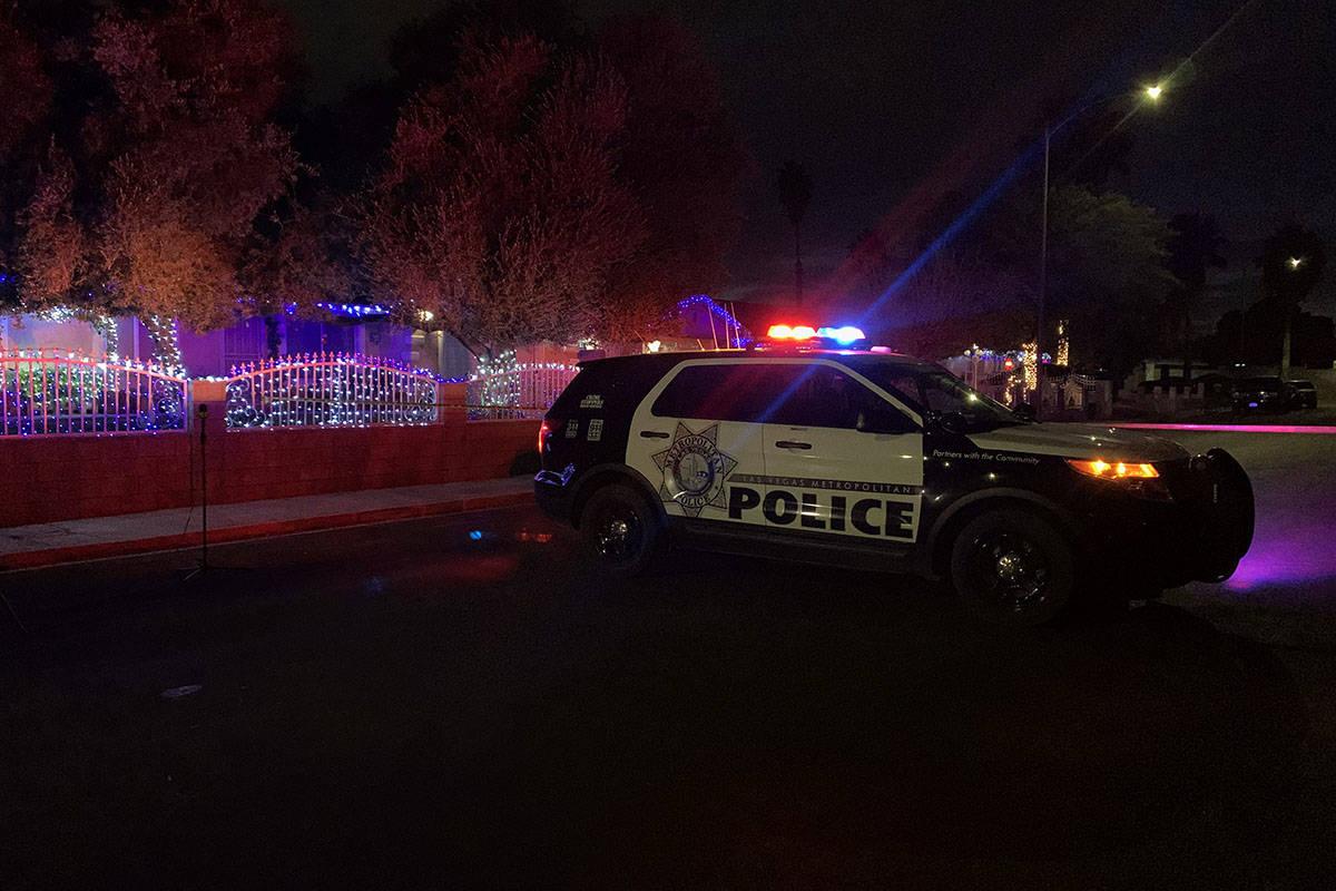 Las Vegas police are investigating a fatal shooting on Tuesday, Dec. 8, 2020. (Sabrina Schnur ...