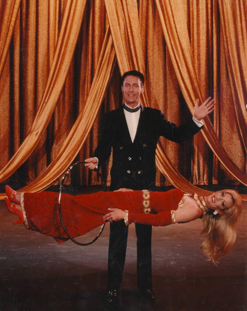 Lance Burton's levitation act is shown here in 2008. (Lance Burton)