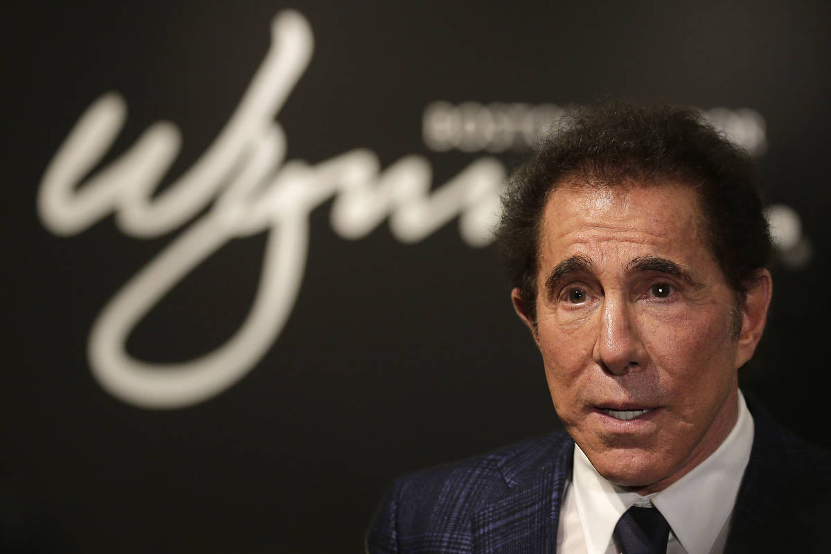 Steve Wynn is seen during a news conference in Medford, Mass., in 2018. (AP Photo/Charles Krupa)