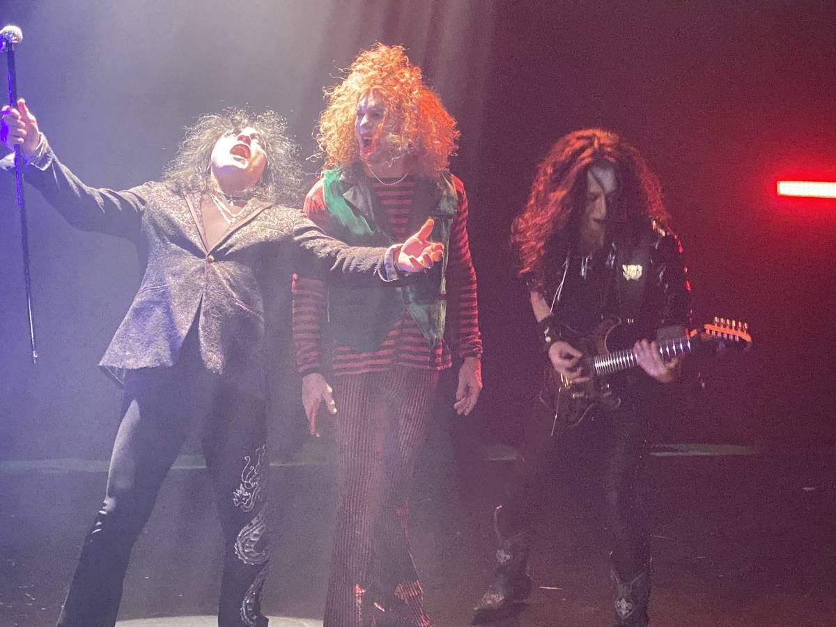 "Paul Shortino, Carrot Top and Nozuma Wakai are shown recording a heavy metal version of ""Send I ..."