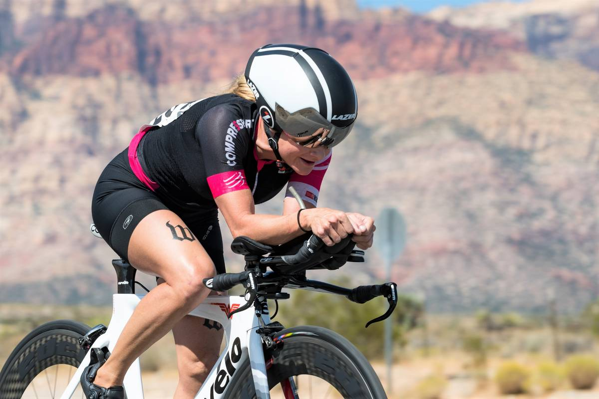 Hugh Byrne Breakaway Cycling Erin Ray competes in the Red Rock Time Trial in 2017