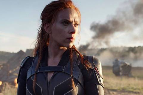 "This image released by Disney/Marvel Studios' shows Scarlett Johansson in a scene from ""Bl ..."