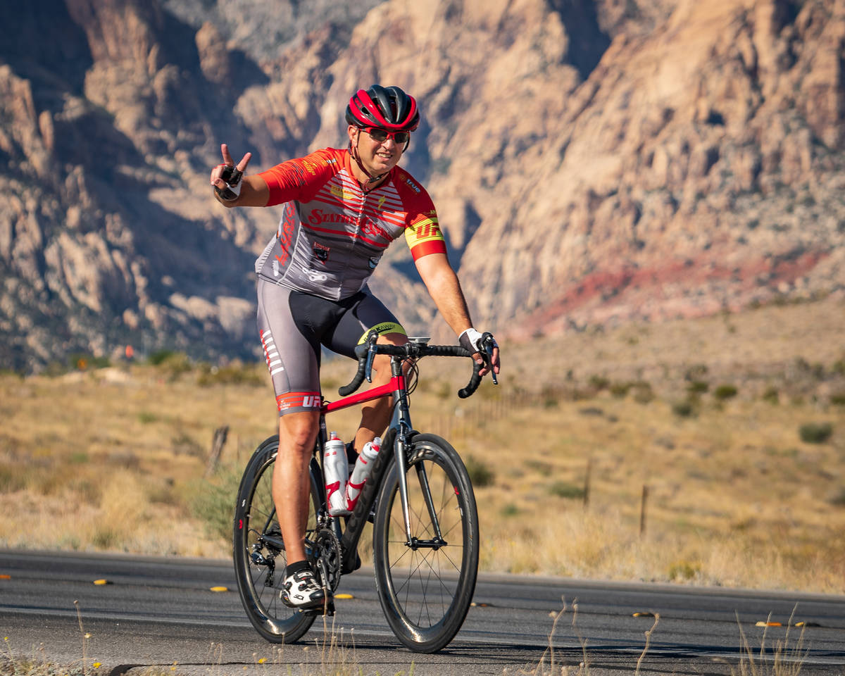 Aksoy Ahmet during a 2018 ride in the Red Rock National Conservation Area. Ahmet, a longtime cy ...