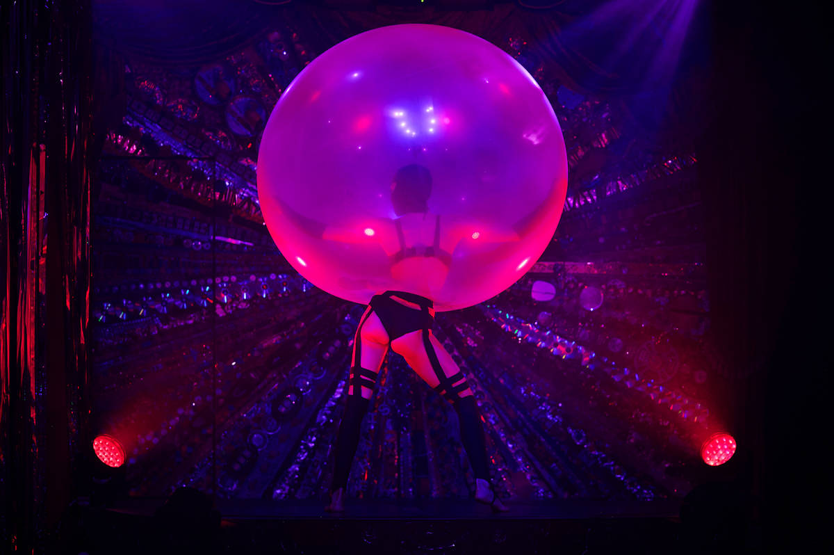 """Lucia's bubble act is shown during the return of """"Absinthe"""" at Caesars Palace on Wednesday, Oct ..."""