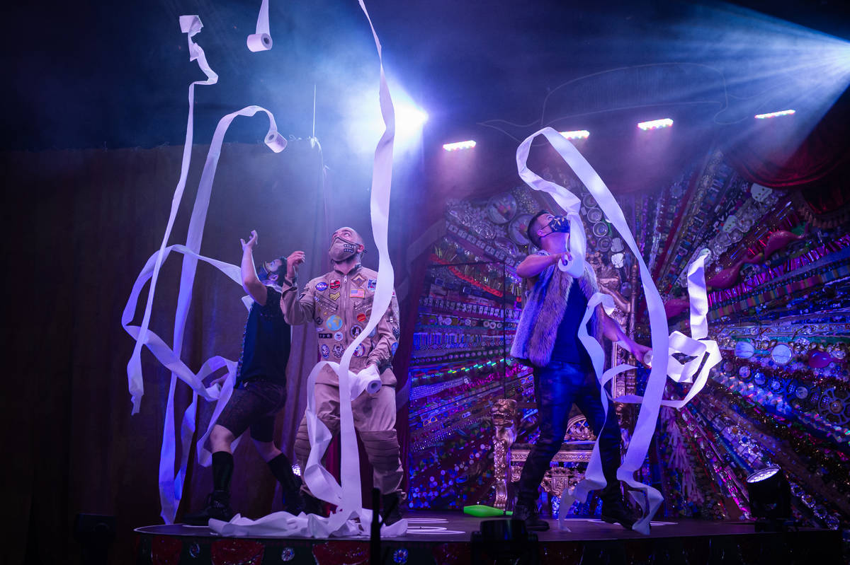 """""""Water On Mars"""" is shown during the return of """"Absinthe"""" at Caesars Palace on Wednesday, Oct. 2 ..."""