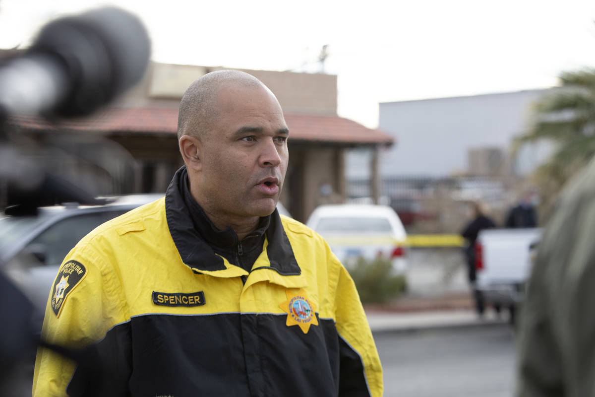 Homicide Lt. Ray Spencer briefs the press on the investigation of a homicide in the 3000 block ...