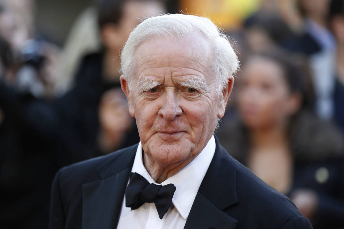 FILE - This Sept. 13, 2011, file photo shows British author John Le Carre at the UK film premie ...
