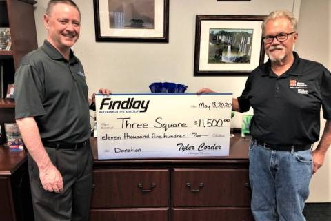 Tyler Corder, Findlay Automotive CFO, and Dan Johnson, Three Square senior development officer, ...