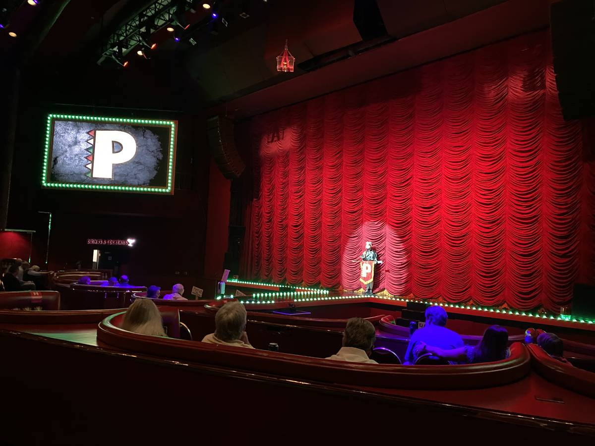 Squire (Brett Alters) is shown onstage at Flamingo Showroom on Thursday, Oct. 29, 2020. (John K ...