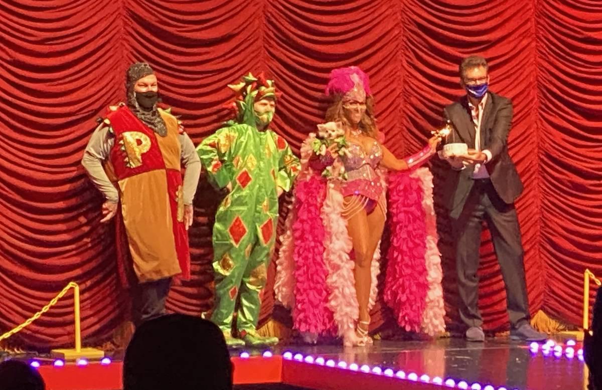 Piff the Magic Dragon and crew celebrate Mr Piffles' 13th birthday at Flamingo Showroom on Nov. ...