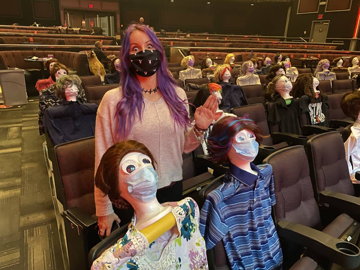 Christina Bolonek, aka Tape Face sidekick Phyllis Vanillis, is shown at Harrah's Showroom is sh ...