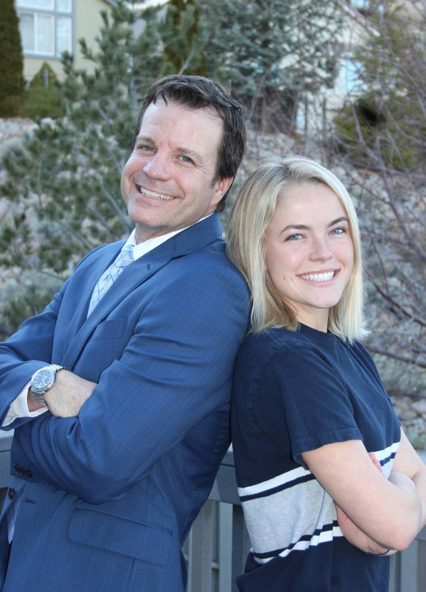Steve Maples, director of admissions for the University of Nevada, Reno, is pictured with his d ...
