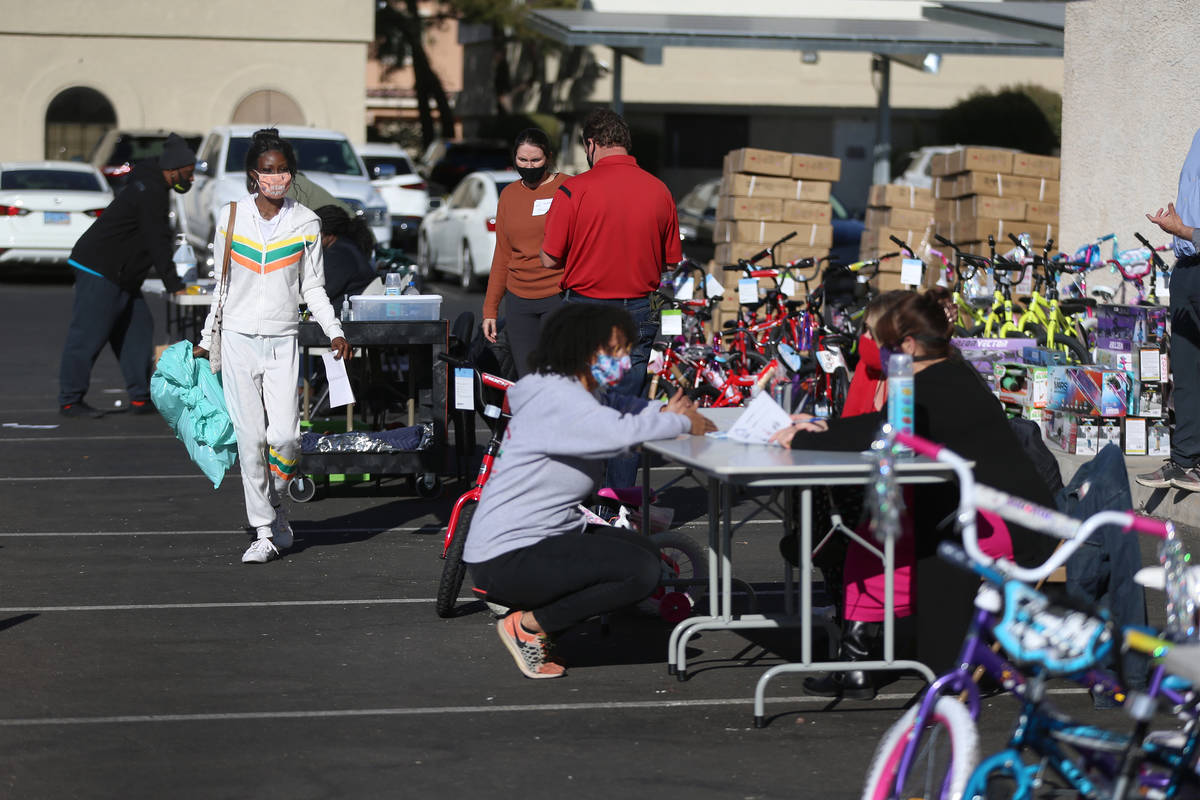 The HELP of Southern Nevada toy drive distribution takes place at the non-profit's headquarters ...