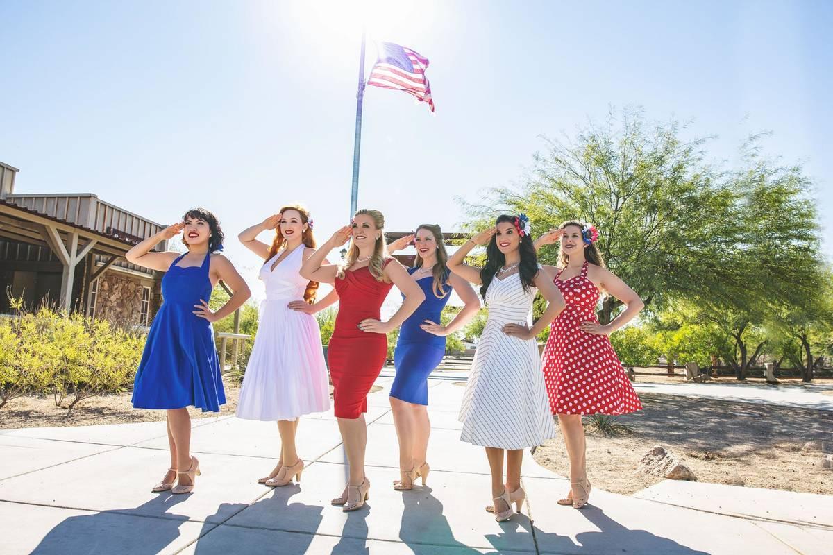 The Swing It! Girls are featured in the Diva! Las Vegas 2021 calendar. (Bridget Reilly)