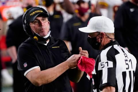 Washington Football Team head coach Ron Rivera during an NFL football game against the San Fran ...