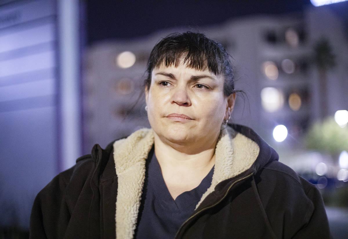 Ralaya Allen, a healthcare nurse in Las Vegas, Tuesday, Dec. 8, 2020. (Rachel Aston/Las Vegas R ...