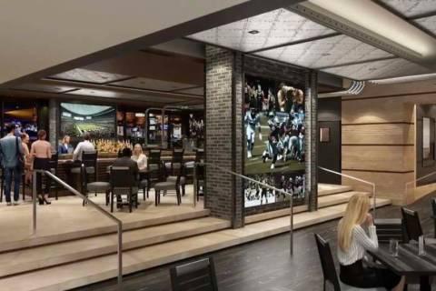 Renderings of the Raiders restaurant planned to open in 2021 at M Resort in Henderson. (M Resort)