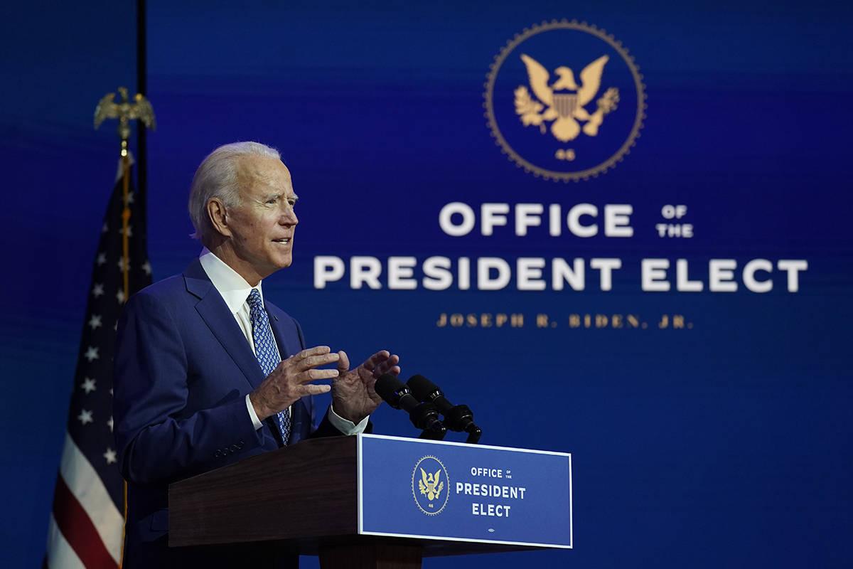 President-elect Joe Biden. (AP Photo/Carolyn Kaster)