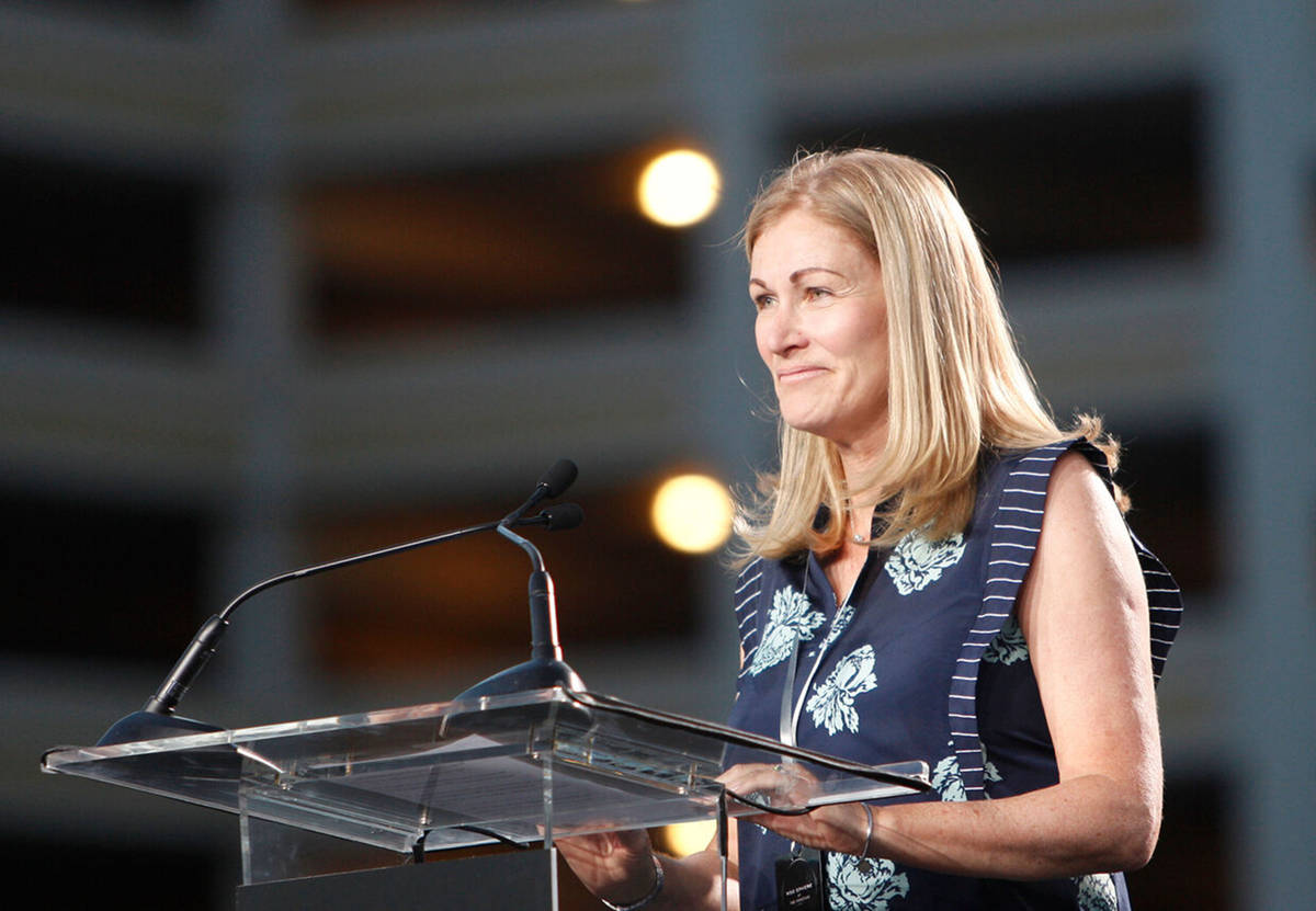 In this Sept. 27, 2018, file photo, Jayne McGivern, executive vice president of development and ...