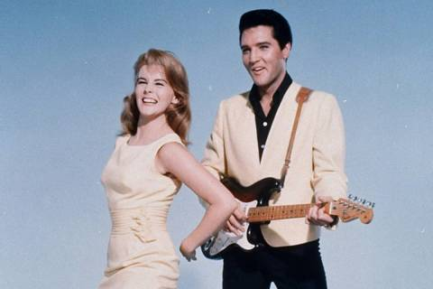 "Elvis Presley and actress Ann-Margret shown in a publicity photo for the 1964 film, ""Viva Las V ..."