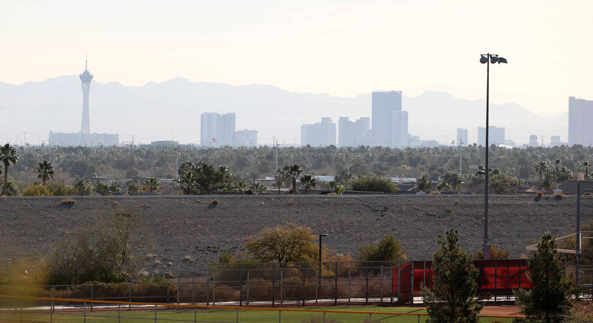 A view of the Strip at Panorama housing development by Touchstone Living on North Hualapai Way ...