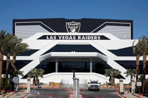 The Las Vegas Raiders headquarters and practice facility photographed on Wednesday, July 8, 202 ...
