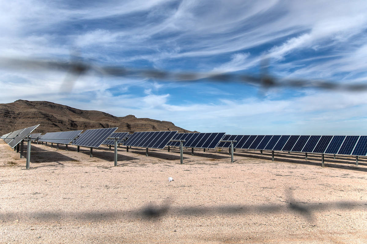 Mountain View Solar Energy panelson Friday, March 6, 2020, in North Las Vegas. (Benjamin ...
