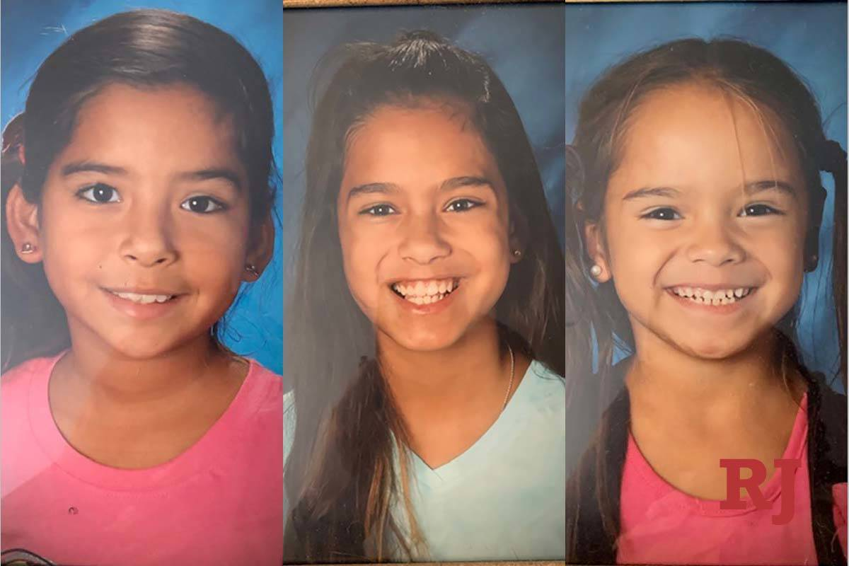 Las Vegas police are asking for help to find missing sisters Anamarie Angel, Alyssa Angel and A ...