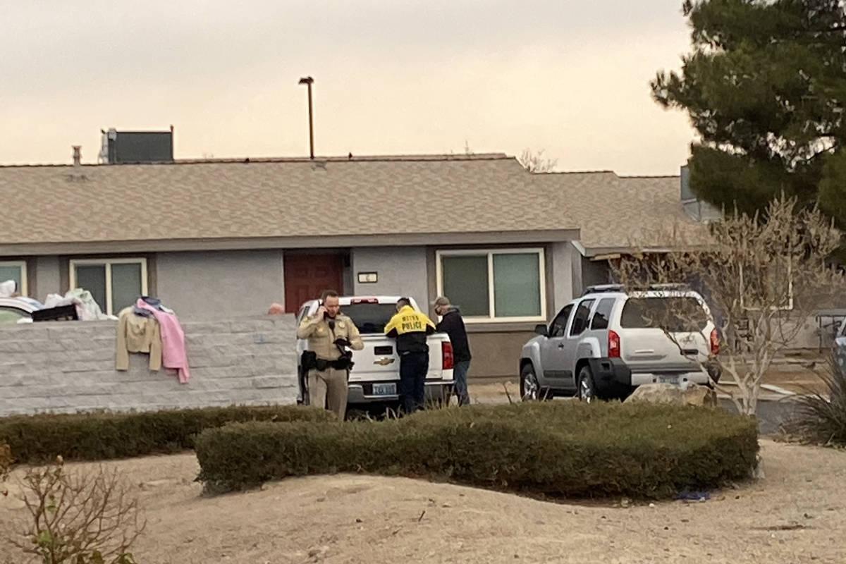 Las Vegas police, homicide detectives and crime scene investigators were at a crime scene in ea ...