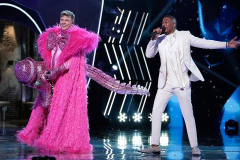 "Nick Carter, left, and host Nick Cannon in the special two-hour ""The Road To the Finals -The La ..."