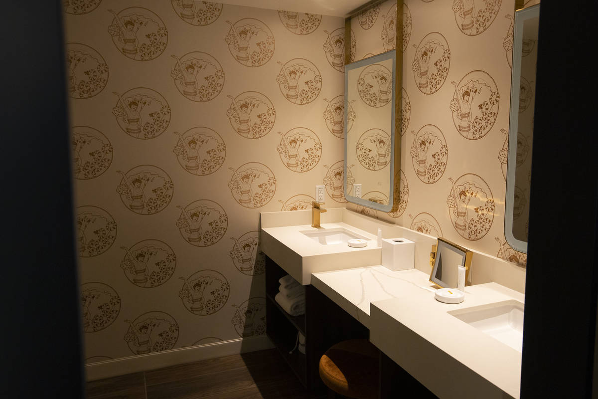 "The bathroom of a ""Circa Studio Suite"" at Circa on Monday, Dec. 28, 2020, in Las Vega ..."