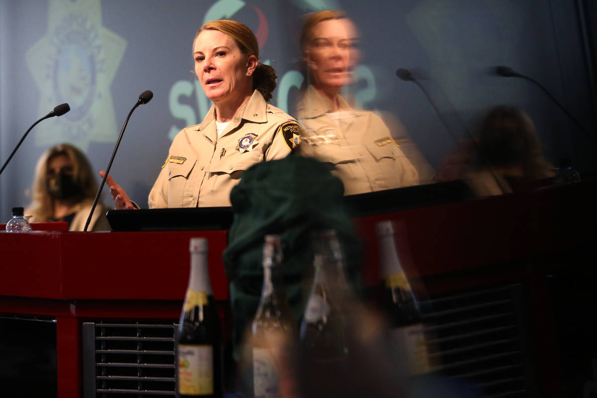 Metropolitan Police Department Deputy Chief Kelly McMahill speaks during a press conference to ...