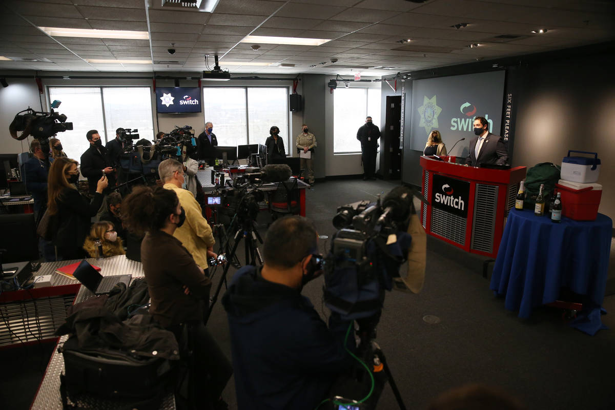 Clark County Commissioner Michael Naft speaks during a press conference to discuss New Year's E ...