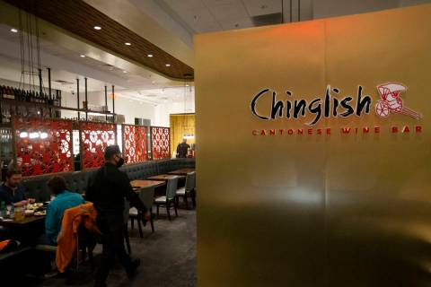 Chinglish Cantonese Wine Bar is open for business on Thursday, Dec. 24, 2020, in Las Vegas. (El ...