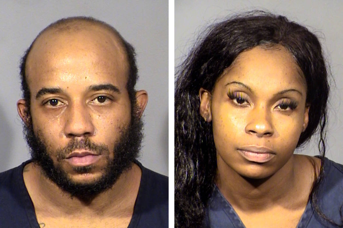 Otis Buchanan, left, and Dalana Smedley (Las Vegas Metropolitan Police Department)
