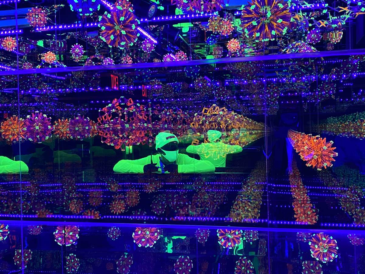 Chris Wink is shown inside Wink World at Area 15 on Tuesday, Dec. 29, 2020. The multimedia inst ...